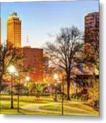 Tulsa Through The Trees Metal Print