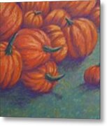 Tumbled Pumpkins Metal Print
