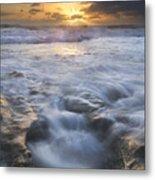 Tumbling Surf Metal Print
