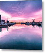 Tuna Harbor Sunrise Metal Print