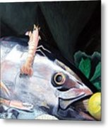Tuna Head In Venice Metal Print