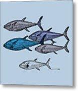 Tuna School Of Fish Metal Print