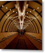Tunnel Abstract Metal Print
