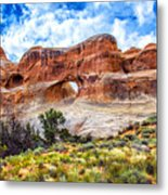 Tunnel Arch Trail View Metal Print