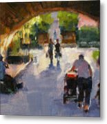 Tunnel In Central Park Metal Print