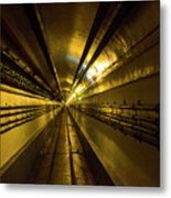 Tunnel In Schoenenbourg Fort, France Metal Print