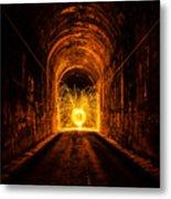Tunnel Sparks Metal Print