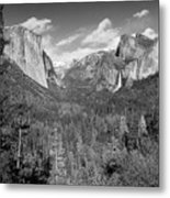 Tunnel View Bw Metal Print