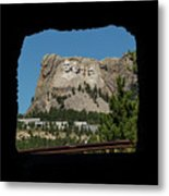 Tunnel View Mt Rushmore 2 A Metal Print