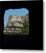Tunnel View Mt Rushmore 2 B Metal Print