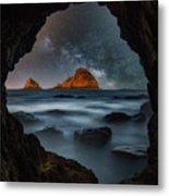 Tunnel View Nights Metal Print