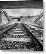 Tunnels And Tracks Metal Print