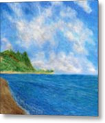 Tunnels Beach Sky Metal Print