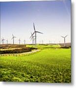 Turbine Fields Metal Print
