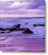 Turbulent Daybreak Seascape Metal Print