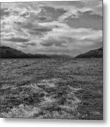 Turbulent Loch Ness In Monochrome 2 Metal Print