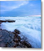 Turbulent Pacific Metal Print