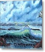 Turbulent Sea Metal Print