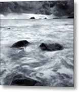 Turbulent Seas Metal Print by Mike  Dawson
