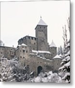 Tures Castle In The Snow Metal Print