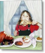 Turkey Girl Metal Print