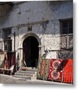 Turkish Carpet Shop Metal Print