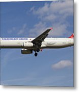 Turkish Delight Airlines Airbus A321 Metal Print