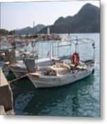 Turkish Fishing Boats Moored At Bozburun Metal Print