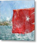 Turkish Flag Metal Print