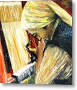 Turkish Weaver Metal Print