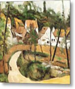 Turn In The Road Reproduction Of Cezannes Work. Metal Print