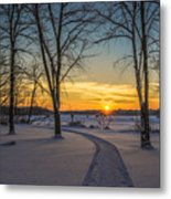 Turn Left At The Sunset Metal Print