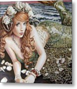 Turn Loose The Mermaid Metal Print