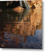 Turner Falls Autumn Reflections Metal Print