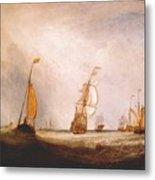 turner helvoetsluys the city of utrecht 64 going to sea 1832 Joseph Mallord William Turner Metal Print