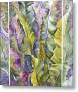 Turns Of Ferns Metal Print