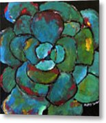 Turquoise Agave Metal Print