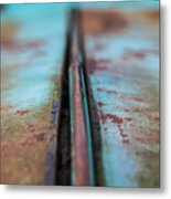 Turquoise And Rust Abstract Metal Print