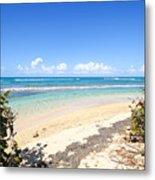 Turquoise Beach Hideaway In Vieques Metal Print