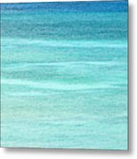 Turquoise Blue Carribean Water Metal Print