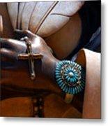 Turquoise Bracelet  Metal Print by Susanne Van Hulst