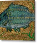 Turquoise Carp Metal Print by Anna Folkartanna Maciejewska-Dyba
