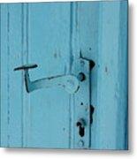 Turquoise Door 02 Metal Print