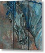 Turquoise Horse Metal Print