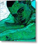 Turquoise Man Metal Print