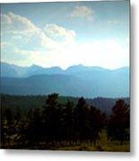 Turquoise Mountain X Metal Print