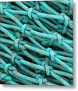 Turquoise Nets Metal Print
