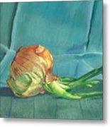 Turquoise Onion Metal Print