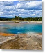 Turquoise Pool, Yellowstone Metal Print