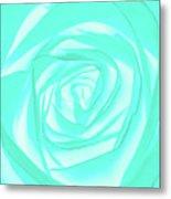 Turquoise Rose Metal Print